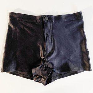 American Apparel Black Disco Shorts